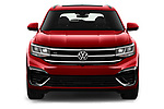Car photography straight front view of a 2021 Volkswagen Atlas-Cross-Sport SEL-R-Line 5 Door SUV Front View