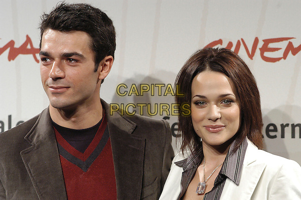 "LUCA ARGENTERO & LAURA CHIATTI.attend a photocall to promote the movie ""A Casa Nostra"" on the eighth day of Rome Film Festival (Festa Internazionale di Roma) in Rome, Italy, October 20th 2006..portrait headshot.Ref: CAV.www.capitalpictures.com.sales@capitalpictures.com.©Luca Cavallari/Capital Pictures."