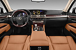 Stock photo of straight dashboard view of 2016 Lexus LS 600H-L-President-Line 4 Door Sedan Dashboard