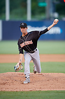 Jupiter Hammerheads starting pitcher Will Stewart (27) during a Florida State League game against the Tampa Tarpons on July 26, 2019 at George M. Steinbrenner Field in Tampa, Florida.  Tampa defeated Jupiter 4-3 in the second game of a doubleheader.  (Mike Janes/Four Seam Images)