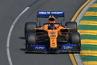 March 16, 2019: Carlos Sainz Jnr (ESP) #55 from the McLaren F1 team rounds turn 2 during practice session three at the 2019 Australian Formula One Grand Prix at Albert Park, Melbourne, Australia. Photo Sydney Low