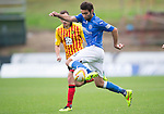 Partick Thistle v St Johnstone....25.10.14   SPFL<br /> Simon Lappin brings the ball under control before shooting over the bar<br /> Picture by Graeme Hart.<br /> Copyright Perthshire Picture Agency<br /> Tel: 01738 623350  Mobile: 07990 594431
