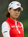 CHON BURI, THAILAND - FEBRUARY 17:  Na Yeon Choi of South Korea looks into the camera on the 19th hole during day two of the LPGA Thailand at Siam Country Club on February 17, 2012 in Chon Buri, Thailand.  Photo by Victor Fraile / The Power of Sport Images