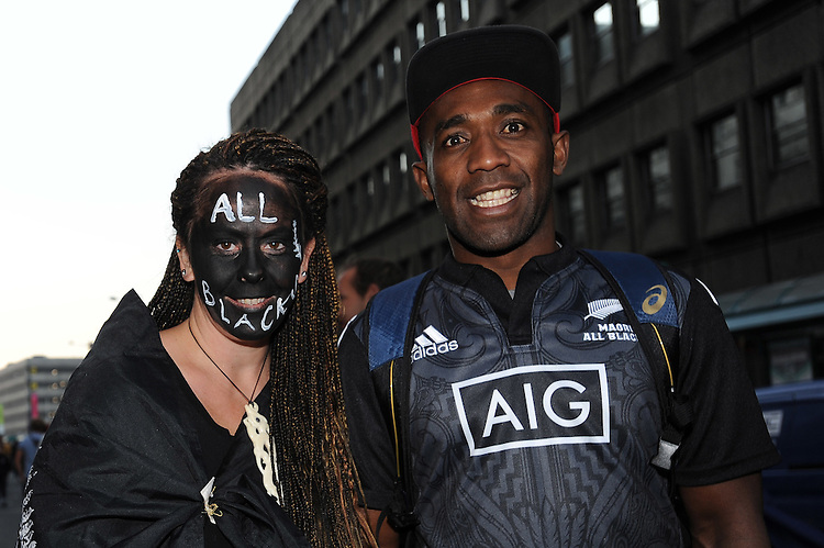 New Zealand fans get ready for Match 23 of the Rugby World Cup 2015 between New Zealand and Georgia - 02/10/2015 - Millennium Stadium, Cardiff<br /> Mandatory Credit: Rob Munro/Stewart Communications