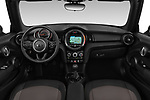 Stock photo of straight dashboard view of a 2018 Mini MINI One Salt 2 Door Convertible