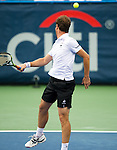 Richard Gasquet (FRA) falls to Vasek Pospisil (CAN) in the semifinals of the Citi Open by 67(5) 63 75 in Washington, DC on August 2, 2014.