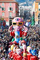 Nice le 19 Fevrier 2107 Place Massena unique sotie du Corso Carnavalesque Parada Nissarda de jour Mutarnavalon