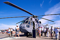 Canadian Forces Sikorsky Sea King Helicopter Military Aircraft on Static Display - at Abbotsford International Airshow, BC, British Columbia, Canada