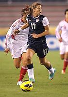 BOCA RATON, FL - DECEMBER 15, 2012: Tobinn Heath (17) of the USA WNT o during an international friendly match against China at FAU Stadium, in Boca Raton, Florida, on Saturday, December 15, 2012. USA won 4-1.