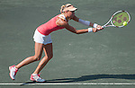 Andrea Hlavackova (CZE) battles at Family Circle Cup in Charleston, South Carolina on April 4, 2012