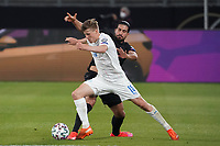 Alsons Sampsted (Island Iceland) gegen Emre Can (Deutschland Germany) - 25.03.2021: WM-Qualifikationsspiel Deutschland gegen Island, Schauinsland Arena Duisburg