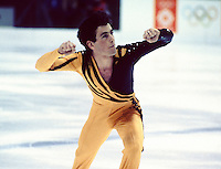 Brian Orser Canadian figure skater competes at the 1984 Olympics in Sarajevo, Yugoslavia. Photo copyright Scott Grant.