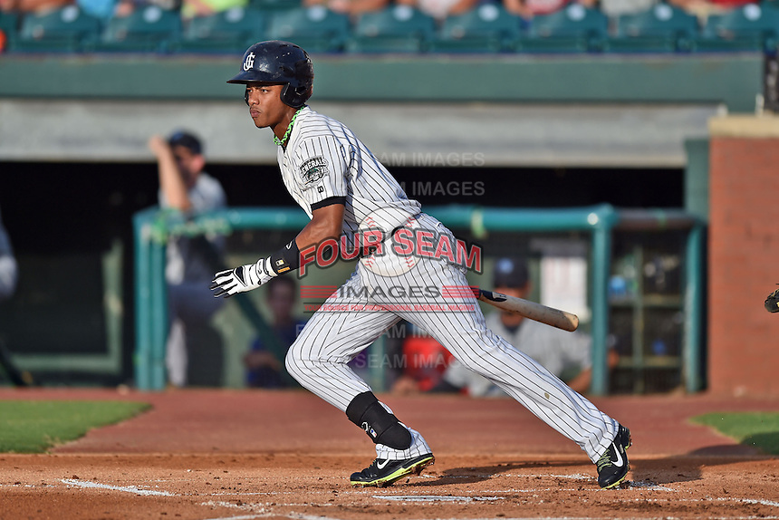 Jackson Generals shortstop Ketel Marte #7 swings at a pitch during the Southern League All Star game at AT&T Field on June 17, 2014 in Chattanooga, Tennessee. The Southern Division defeated the Northern Division 6-4. (Tony Farlow/Four Seam Images)
