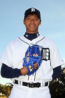 Feb 21, 2009; Lakeland, FL, USA; The Detroit Tigers pitcher Fu-Te Ni (75) during photoday at Tigertown. Mandatory Credit: Tomasso De Rosa/ Four Seam Images