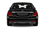 Straight rear view of 2019 Mercedes Benz S-Class - 4 Door Sedan Rear View  stock images