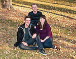 Family portrait in a park