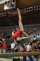 20 January 2008: Tabitha West during Stanford's 194.600-194.125 win against the Arizona Wildcats at Burnham Pavilion in Stanford, CA.