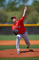 Boston Red Sox Daniel McGrath (50) during a minor league Spring Training game against the Tampa Bay Rays on March 23, 2016 at Charlotte Sports Park in Port Charlotte, Florida.  (Mike Janes/Four Seam Images)