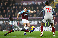 Burnley's Chris Wood competing with Liverpool's Naby Keita<br /> <br /> Photographer Andrew Kearns/CameraSport<br /> <br /> The Premier League - Burnley v Liverpool - Wednesday 5th December 2018 - Turf Moor - Burnley<br /> <br /> World Copyright © 2018 CameraSport. All rights reserved. 43 Linden Ave. Countesthorpe. Leicester. England. LE8 5PG - Tel: +44 (0) 116 277 4147 - admin@camerasport.com - www.camerasport.com