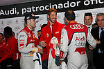 Real Madrid player Sergio Ramos and F1 driver Marc Gene participate and receive new Audi during the presentation of Real Madrid's new cars made by Audi at the Jarama racetrack on November 8, 2012 in Madrid, Spain.(ALTERPHOTOS/Harry S. Stamper)