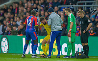 Olivier GIROUD of Chelsea injured during the Premier League match between Crystal Palace and Chelsea at Selhurst Park, London, England on 30 December 2018. Photo by Andrew Aleks.