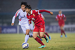 China PR plays against DPR Koreaduring the AFC U-16 Women's Championship China 2015 Semi Final match at the Xinhua Road Stadium on 12 November 2015 in Wuhan, China. Photo by Aitor Alcalde / Power Sport Images