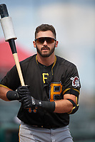 Pittsburgh Pirates Dylan Busby (17) on deck during a Florida Instructional League game against the Detroit Tigers on October 16, 2020 at Joker Marchant Stadium in Lakeland, Florida.  (Mike Janes/Four Seam Images)