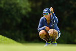 Sharmila Nicollet of India ponders her next move during the first round of the EFG Hong Kong Ladies Open at the Hong Kong Golf Club Old Course on May 11, 2018 in Hong Kong. Photo by Marcio Rodrigo Machado / Power Sport Images