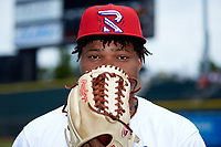 Winston-Salem Rayados relief pitcher Luis Ledo (39) poses for a photo prior to the game against the Lynchburg Hillcats at BB&T Ballpark on June 23, 2019 in Winston-Salem, North Carolina. The Hillcats defeated the Rayados 12-9 in 11 innings. (Brian Westerholt/Four Seam Images)