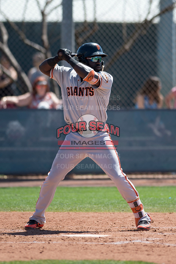 San Francisco Giants outfielder Jacob Heyward (31) during a Minor League Spring Training game against the Arizona Diamondbacks at Salt River Fields at Talking Stick on March 28, 2018 in Scottsdale, Arizona. (Zachary Lucy/Four Seam Images)