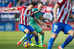 Gabriel Fernandez Arenas, Gabi, (l) of Atletico de Madrid competes for the ball with Andres Iniesta Lujan of FC Barcelona during their La Liga match between Atletico de Madrid and FC Barcelona at the Santiago Bernabeu Stadium on 26 February 2017 in Madrid, Spain. Photo by Diego Gonzalez Souto / Power Sport Images