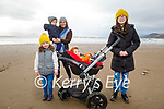 Enjoying a stroll in Inch Beach on Saturday, l to r: Padraig Fitzgerald, Breda, Molly, Michael and Méabh Moriarty