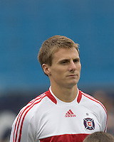 Chicago Fire forward Chris Rolfe (17). The New England Revolution out scored the Chicago Fire, 2-1, in Game 1 of the Eastern Conference Semifinal Series at Gillette Stadium on November 1, 2009.