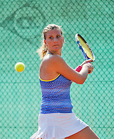 Netherlands, Amstelveen, August 23, 2015, Tennis,  National Veteran Championships, NVK, TV de Kegel,  Lady's single final 35+ years: Linda Sentis<br /> Photo: Tennisimages/Henk Koster