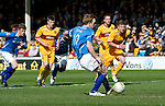 Motherwell v St Johnstone....28.04.12   SPL.Liam Craig scores from the penalty spot.Picture by Graeme Hart..Copyright Perthshire Picture Agency.Tel: 01738 623350  Mobile: 07990 594431