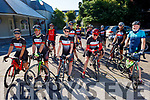 Members of the Chain Gang Cycling club, ready for road as they gather in the Meadowlands Hotel on Saturday morning.