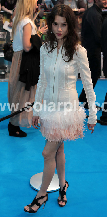 **ALL ROUND PICTURES FROM SOLARPIX.COM**                                             **NO UK NEWSPAPER PUBLICATION**.**UK MAGAZINE & SUPPLEMENT PUBLICATION ONLY** AND NO PUBLICATION IN AUSTRALIA, BELGIUM, FRANCE, GERMANY, ITALY, SCANDINAVIA AND USA**                                                                                  Caption: Disney's latest blockbuster Pirates of the Caribbean 4 - On Stranger Tides premier at Westfield, London, UK. 12 May 2011                                                                                      This pic: Astrid Berges Frisbey                                                                                JOB REF: 13334 SFE       DATE: 12_05_2011                                                            **MUST CREDIT SOLARPIX.COM OR DOUBLE FEE WILL BE CHARGED**                                                                      **MUST AGREE FEE BEFORE ONLINE USAGE**                               **CALL US ON: +34 952 811 768 or LOW RATE FROM UK 0844 617 7637**