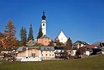 Schweiz, Graubuenden, Unterengadin, Bergdorf Ftan   Switzerland, Graubuenden, Lower Engadin, mountain village Ftan