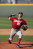 April 3 2010: Mark Appel of the Stanford Cardinal during game against the UCLA Bruins at UCLA in Los Angeles,CA.  Photo by Larry Goren/Four Seam Images