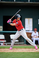 New Hampshire Fisher Cats designated hitter Max Pentecost (7) at bat during the first game of a doubleheader against the Harrisburg Senators on May 13, 2018 at FNB Field in Harrisburg, Pennsylvania.  New Hampshire defeated Harrisburg 6-1.  (Mike Janes/Four Seam Images)