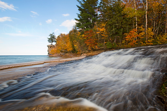 Chapel River , Chapel Rock, Pictured Rocks National Lakeshore
