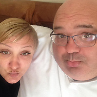 Pictured: Samantha Murray Evans (L), image found on open social media site.<br /> Re: A cop who won bravery awards had his career ruined when a woman he met through a dating website falsely claimed he had raped her.<br /> PC Paul Morgan, 52, suffered the indignity of being arrested by his own colleagues and held in a cell overnight after the allegation by Samantha Murray-Evans, 45, a woman he met through the Plenty of Fish website.<br /> Lengthy investigations followed adding to the PC's stress until it was eventually decided that Murray-Evans, who told PC Morgan she was a college lecturer and actress, had been lying.<br /> She is pleading guilty to perverting the course of justice when she appears at Swansea Crown Court this Friday. (October 13th).<br /> PC Morgan, a cop for 21 years, has been off sick for a year following the allegation and is of the belief that Murray-Evans lies were clear from the outset and he should have been believed rather than her.