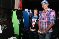 NO REPRO FEE. 20/9/2010. Game On Exhibition.  Harry King and Baz Ashmay are pictured at the opening of the Game On Exhibition at Dublin's Ambassador Theatre. Game On is an action packed gaming exhibition with fun for all the family. Enjoy a totally interactive experience with rare memorabilia and play your way through over 120 playable games from the arcade classics to the latest releases. Now running at the Ambassador Theatre for a limited run. Tickets from 10 euro including booking fee on sale now See Ticketmaster.ie and Gameon-Dublin.ie for family and group discounts plus more details. Picture James Horan/Collins Photos