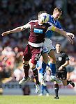 St Johnstone v Hearts...04.08.13 SPFL<br /> Danny Wilson and Steven MacLean<br /> Picture by Graeme Hart.<br /> Copyright Perthshire Picture Agency<br /> Tel: 01738 623350  Mobile: 07990 594431
