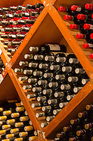 South Africa.  Wine on Display, Fairview Winery, Paarl area, near Cape Town.