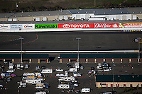 aerial photograph Infineon Raceway track advertising banners Sonoma County, California