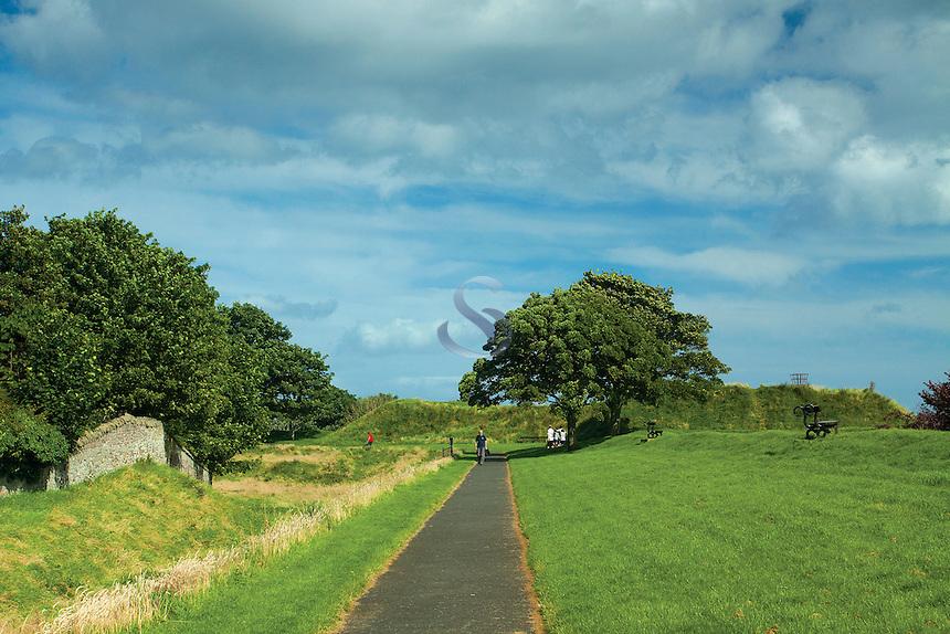 The historic Town Walls of Berwick-upon-Tweed, Northumberland