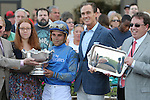 September 19, 2015. Frosted, Joel Rosario up,  wins the $1,000,000 Grade II Pennsylvania Derby, one and 1/8th miles for three-year-olds, at  Parx Racing in Bensalem, PA. Trainer is Kiaran McLaughlin (far right); owner is Godolphin Racing. (Joan Fairman Kanes/ESW/CSM)