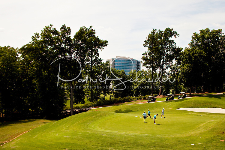 The Ballanytne Coutry Club is located in Ballantyne, a suburb of Charlotte NC, located near the South Carolina border. The 2,000-acre mixed-use development was created by land developer Howard C. Smokey Bissell.
