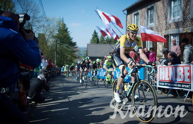 Robert Gesink (NLD/Team LottoNL-Jumbo) up the infamous Mur de Huy (1300m/9.8%)<br /> <br /> 79th Flèche Wallonne 2015